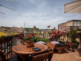 Among Trastevere rooftops, Rome