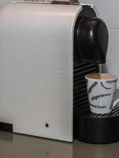 with coffee machine