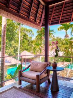 Deck at Guest Bedroom 1 Villa Tukad Pangi