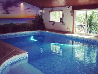 Heated indoor swimming pool with Sauna and Hottub