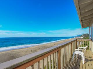 Rustic, dog-friendly oceanfront home with fantastic views