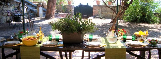 Summer lunch in the dining area