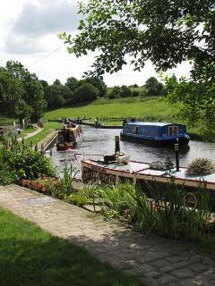 Greenberfield Locks on the LeedsLiverpool Canal