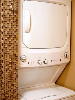 Stackable Washer / Dryers in all Cabins
