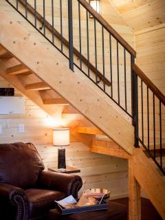 ALPINE Cabin | Staircase to the Loft Bedroom