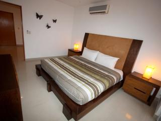 Master suite with king bed and en suite bathroom