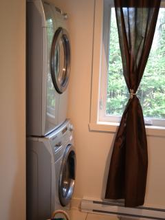 Laundry facilities located in downstairs bathroom
