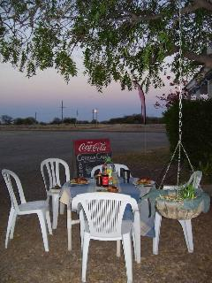 Eat outside in the moonlight and watch the full moon rise over the grasslands.