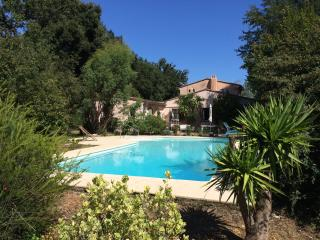 Pet-Friendly, Cote D'Azur Villa with a Grill, Fireplace, and Pool, Mougins