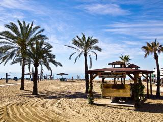 Marbella first line beach with sea view