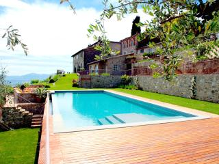 Enchanting stone Cottage Ciciana with breathtaking panoramic View,  shared Pool, near Lucca