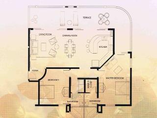 2 Bedroom floorpan