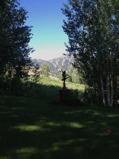 A lovely private yard surrounds your home with Bald Mountain as your backdrop