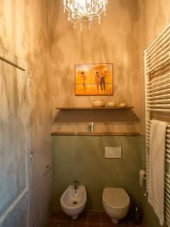 Il bagno della camera verde