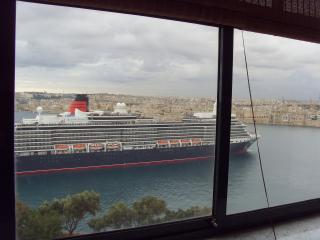 Queen Elizabeth entering Harbour in the Living Room