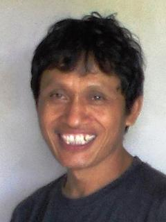 Gede, our sweet house keeper