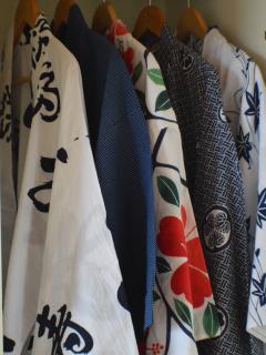 Yukata, traditional Japanese robes to wear around the house