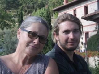 proprietário Ulrike com filho Fabian