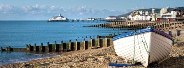 Eastbourne Beach and Pier a 15/20 minute drive away
