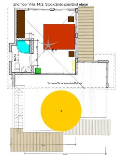 Floorplan 3rd floor with terrace