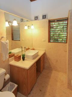 Remodeled bathrooms in each bedroom