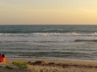 Sea View /Beach Apt  1 AC BD - kitchen- patio -