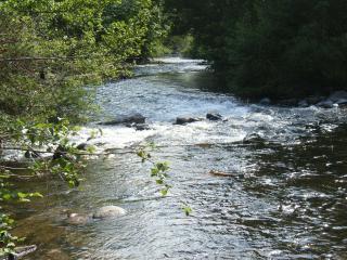 Desde la casa puedes escuchar el rumor de las aguas del rio Bidasoa