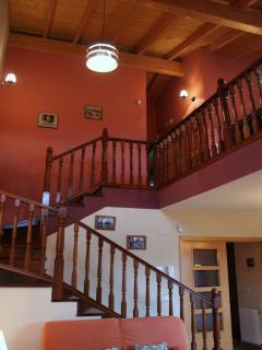 Vista de la escalera