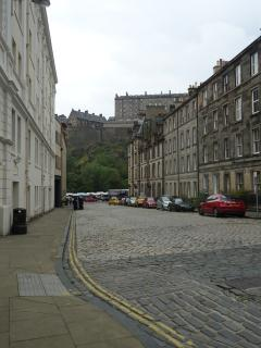 Fabulous views of Edinburgh Castle less than 1 minute walk from apartment