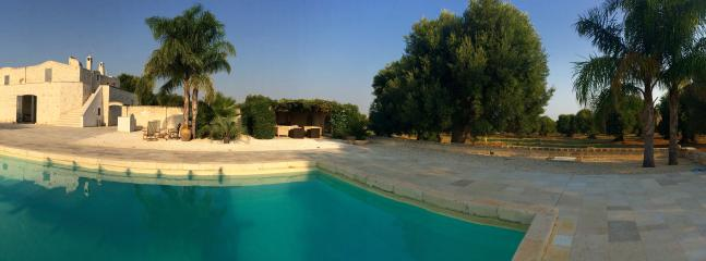 Panorama of the house and pool