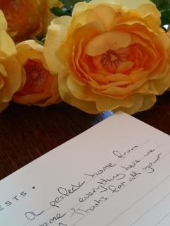 Our Guest Book.