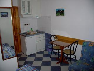 This is a studio apartment with double bed, bathro