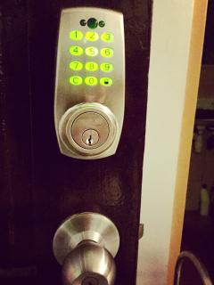 Our condo is digitally locked.