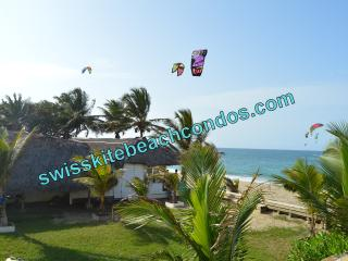 Swiss Kite Beach Condo - 1 bed - 10 steps to Beach, Cabarete