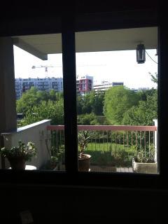Balcone con vista sul parco