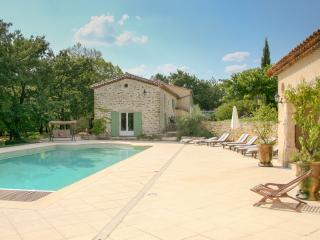 Mas des Gardies stone farmhouse, very large pool, Ales