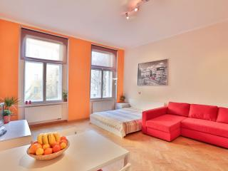 Tyrsova Orange apartment in Nove Mesto with WiFi & lift.