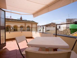 Menjibar apartment in Casco Antiguo with WiFi, airconditioning (warm / koud), privéparkeerplaats & …, Séville