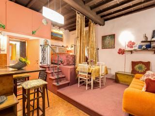 Leopard Studio apartment in Trastevere with WiFi & air conditioning.