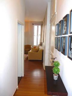 Hallway is well decorated and inviting