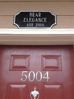 Our sign over the entrance door