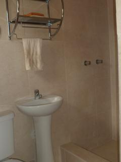private bathoom with hot shower!