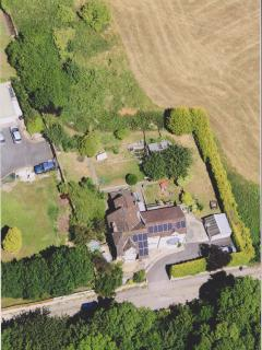 Aerial view of Hawkers Cottage taken 2015