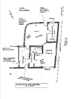 Brampton apartment rental - General Outline Plan of the Guest Suite