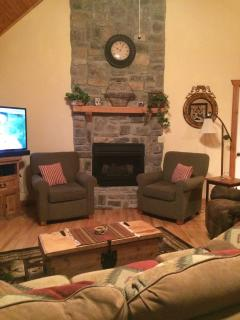 Visit with family, sit by the fire, or watch a movie.  Relax!!