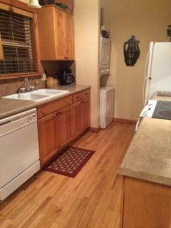 Washer and dryer in the kitchen