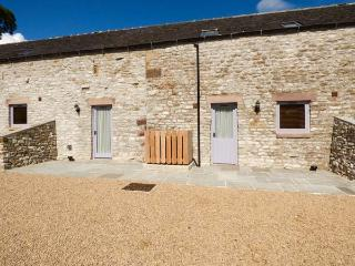 BANK TOP, semi-detached barn on working farm, en-suite, off road parking, patio,
