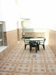This is the Andalusian patio off the kitchen