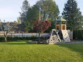 Backyard with play place