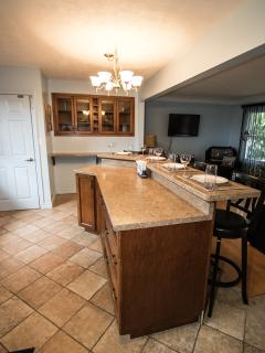 There is plenty of counter space for meal preparation and entertaining.